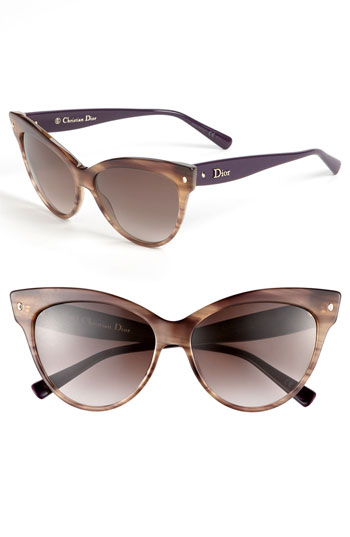 Dior Glasses Frames Cat Eye : Dior Cats Eye Sunglasses Brown Stripe/ Brown Gradient One ...