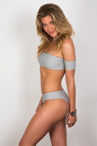 swimwear bikini bottoms cheeky grey soah fully lined bikiniluxe