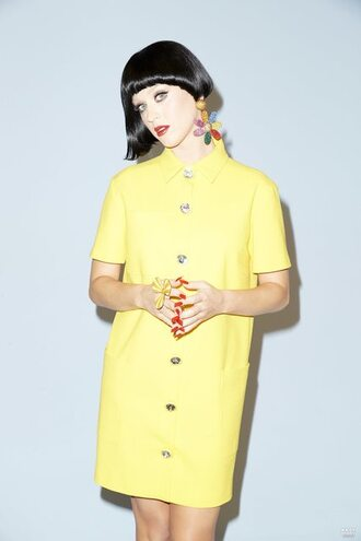 dress yellow dress katy perry