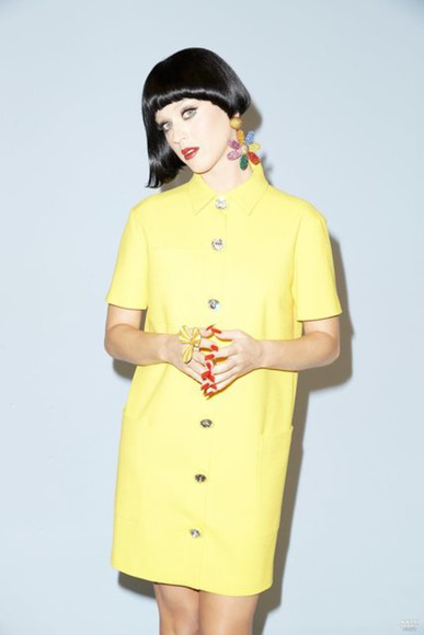 dress katy perry yellow dress