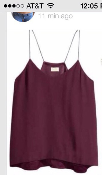 blouse burgundy tank top shirt
