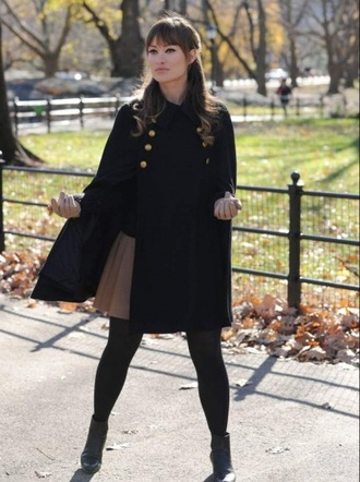 coat olivia wilde black coat