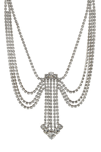 statement necklace silver jewels