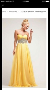 dress,yellow dress,gown,prom dress,prom gown,yellow gowns,beaded,chiffon dress,chiffon,prom