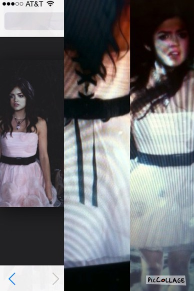 dress pretty little liars aria montgomery pink dress