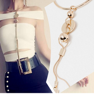 jewels choker necklace top gold metal choker