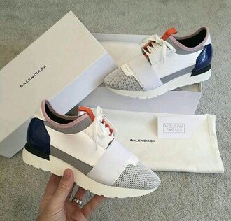 shoes sneakers white sneakers balenciaga balenciaga leather sneakerss