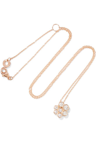 rose gold rose necklace diamond necklace gold jewels