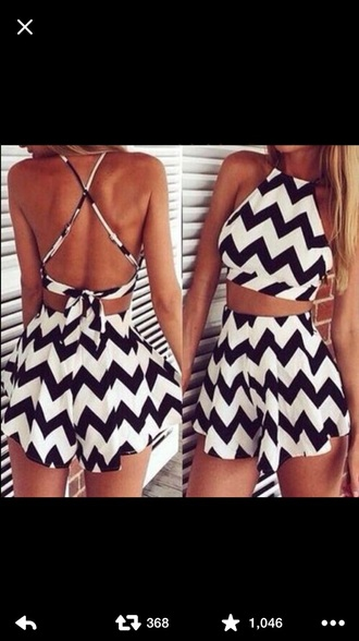 jumpsuit black-and-white