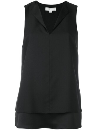 top sleeveless top sleeveless women layered black
