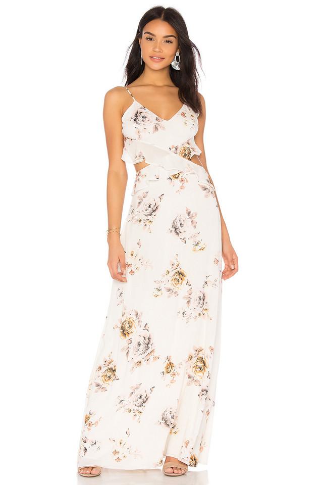 Clayton X REVOLVE Meadow Dress in white
