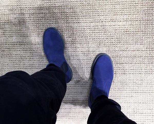 shoes bluechelseaboots nathaniel noir chelsea boots suede boots suede blue