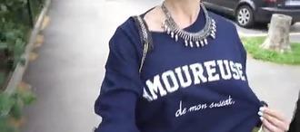 sweater bleu pull