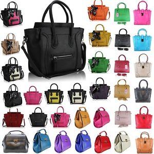 Women's Ladies Designer Leather Style Celebrity Tote Bag Smile Shoulder Hand Bag | eBay
