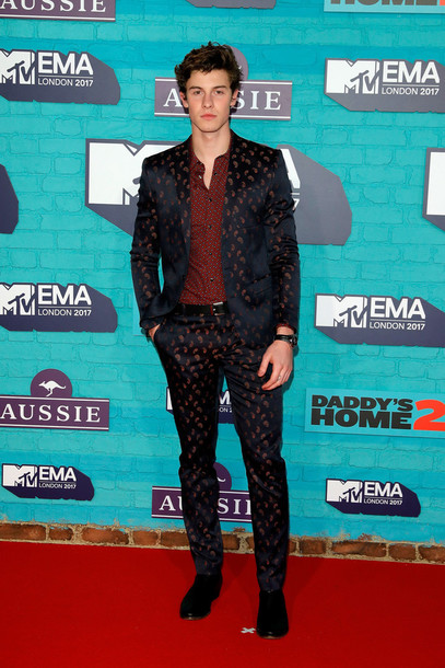 jacket shawn mendes blazer pants menswear mens suit mtv ema awards mens shirt