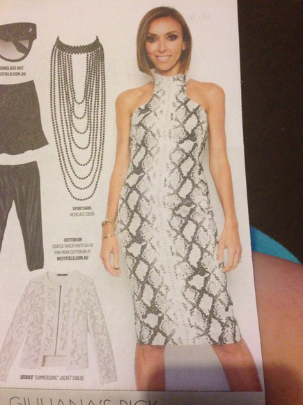 snake print giuliana rancic midi dress midi