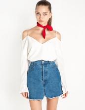 top,cameo cold shoulder top,cold shoulder top,v neck,pixie market,white top,cmeocollective,trendy