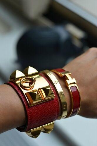 jewels leather bracelet cuff bracelet bracelets stacked bracelets hermes cartier