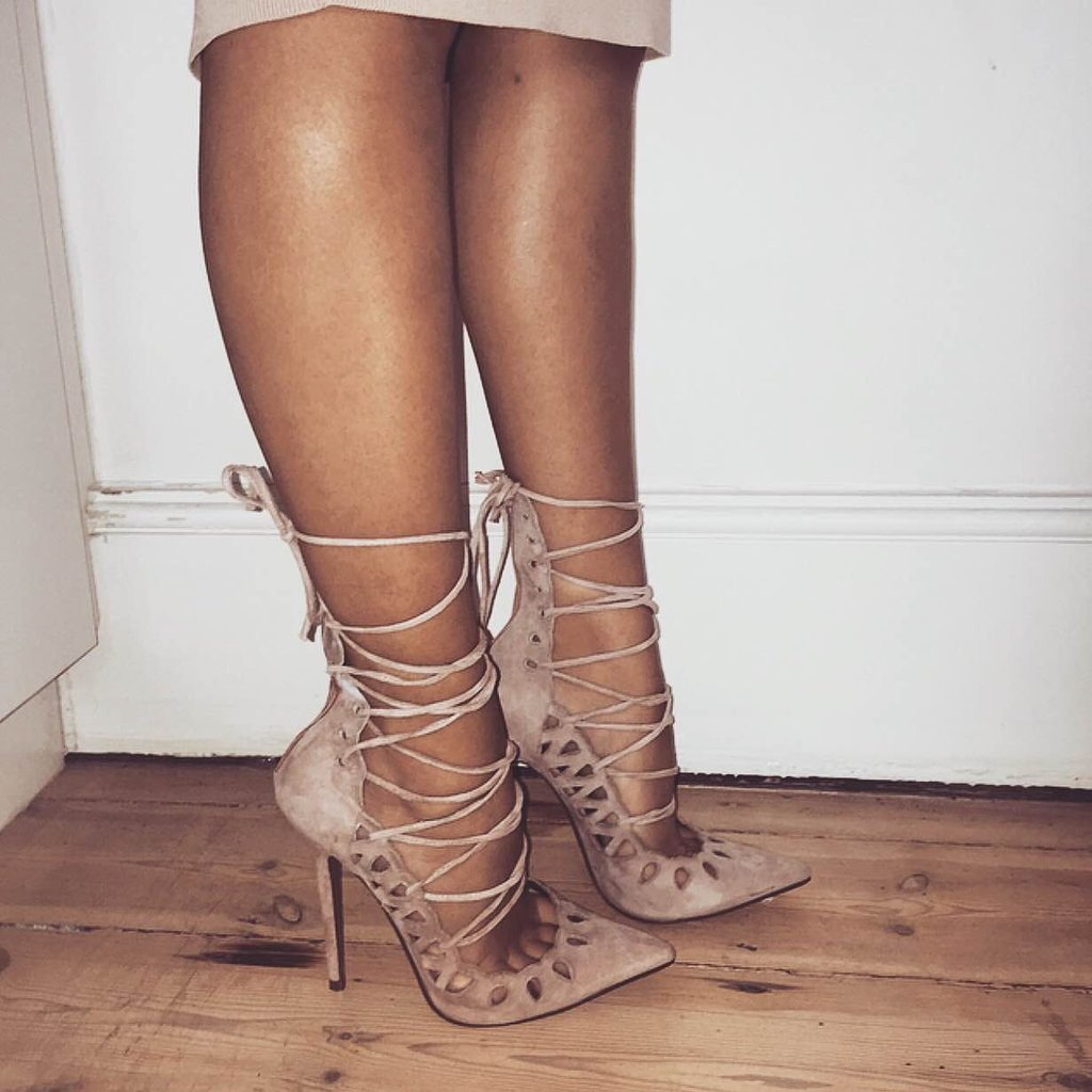 pointed toe lace up heels official
