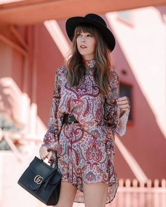 shorts tumblr print boho patterns shorts pattern top asymmetrical top asymmetrical belt bag black bag gucci gucci bag designer bag felt hat hat black hat boho