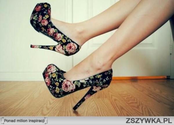 shoes high heels high heels flowers classy dark roses