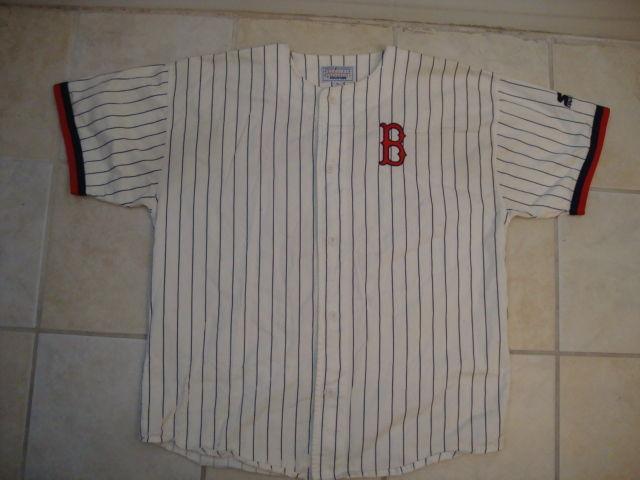 de603b073 Vintage 90s Starter Boston Red Sox Sewn Pin Stripe Mens Jersey XL