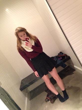 skirt black skater skirt