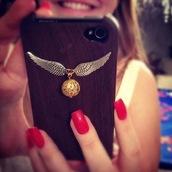 jewels,harry potter,golden snitch,wing,wings,iphone case,iphone cover