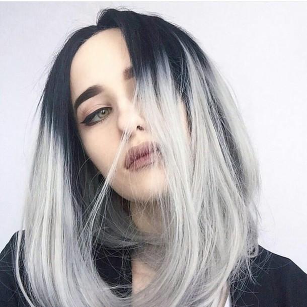 Hair Accessory Silver Hair Ombre Long Bob Hairstyles Dark