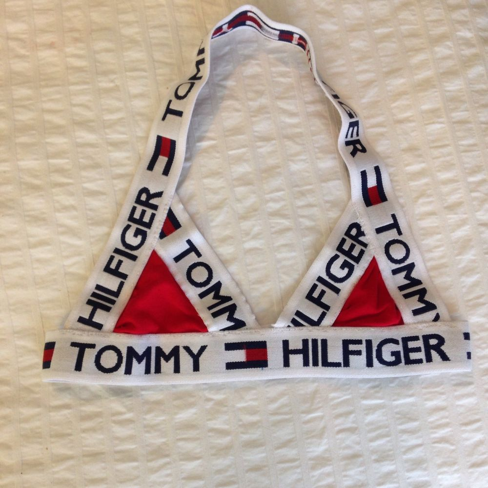 Tommy hilfiger reconstructed crop top bra (xs)