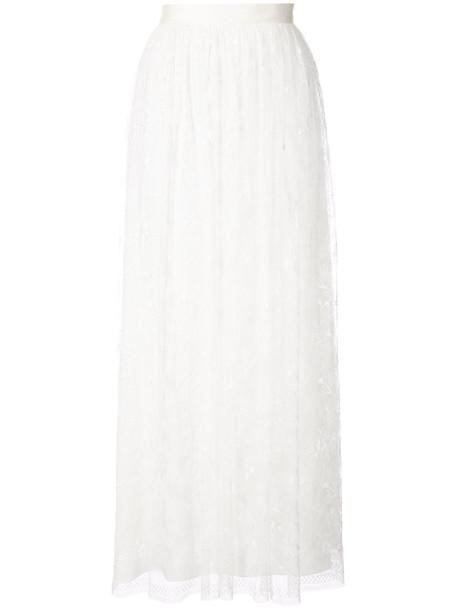 Adam Lippes skirt lace skirt high women lace white silk