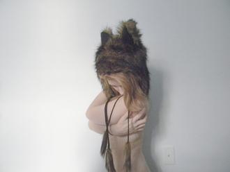 hat black hat fur fur hat
