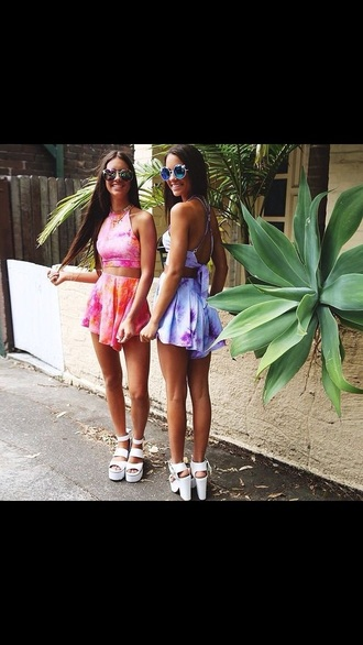 romper tie dye cute flowy top bottoms outfit matching set pretty cute outfits want pls summer summer outfits tie dye shirt gorgeous wow love