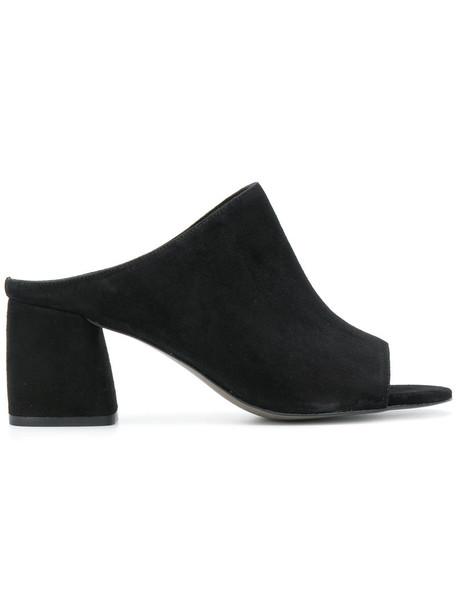 Rebecca Minkoff open women sandals leather black shoes