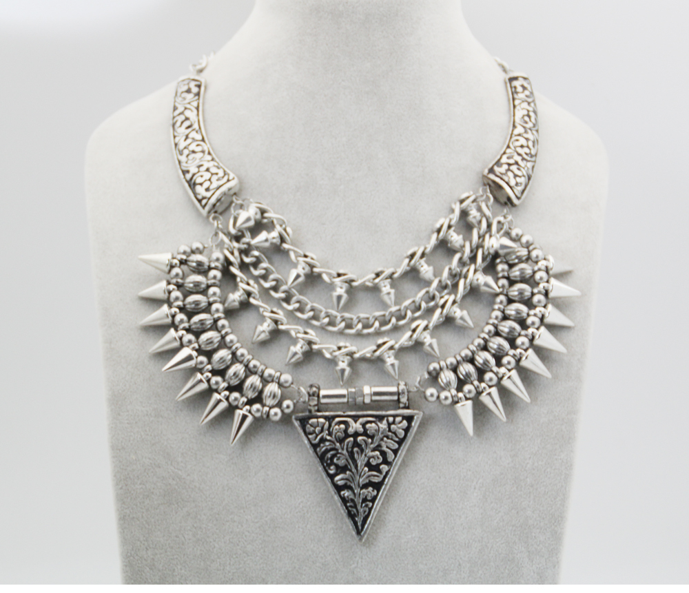 high quality2013new fashion jewelry brand luxury sliver chain personnalized punk pendant statement necklace for women for MZN099-in Chain Necklaces from Jewelry on Aliexpress.com
