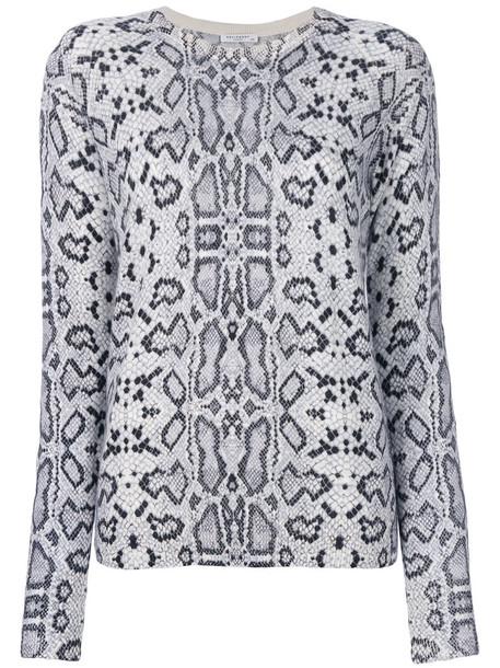 Equipment sweater printed sweater women blue silk