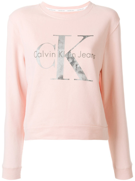 sweatshirt women cotton print purple pink sweater