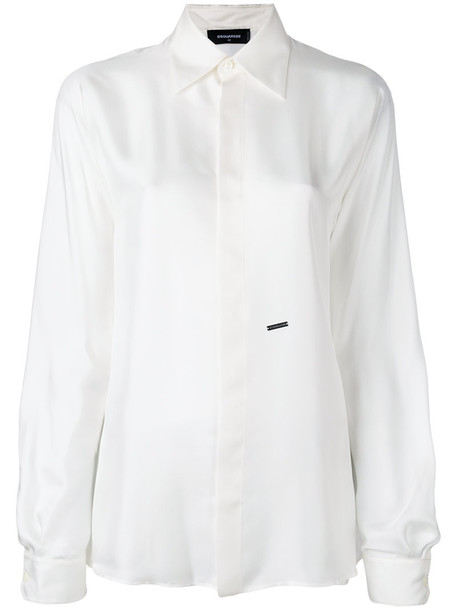 Dsquared2 - classic shirt - women - Silk - 38, White, Silk