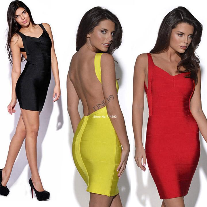 2014 New Fashion Sexy Bandage Dress Mini Bodycon Backless Plus Size Party Club wear Evening Women 3colors 19836*-in Dresses from Apparel & Accessories on Aliexpress.com