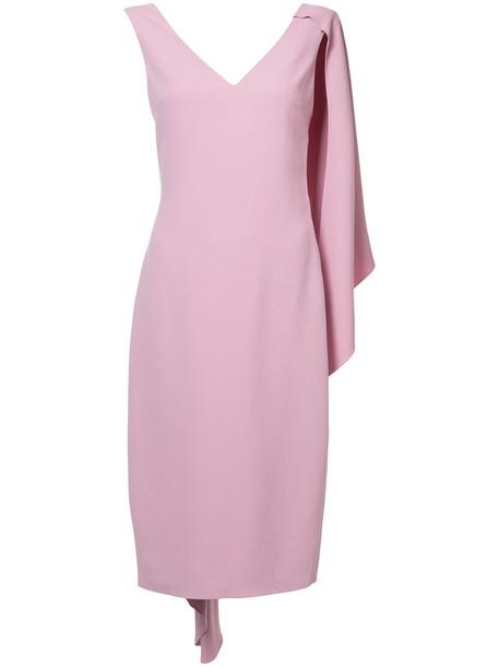cushnie et ochs dress pencil dress women spandex purple pink