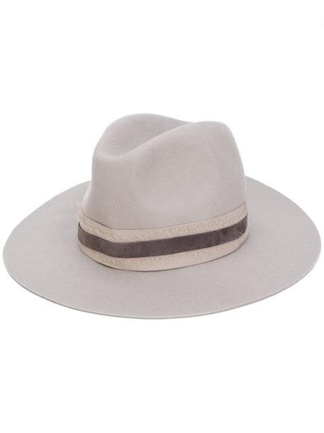 hat felt hat grey