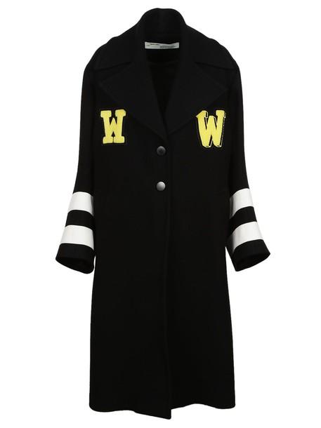 Off-White coat white black