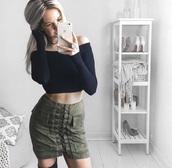 skirt,short skirt,black skirt,army green skirt,green skirt,grey skirt,suede