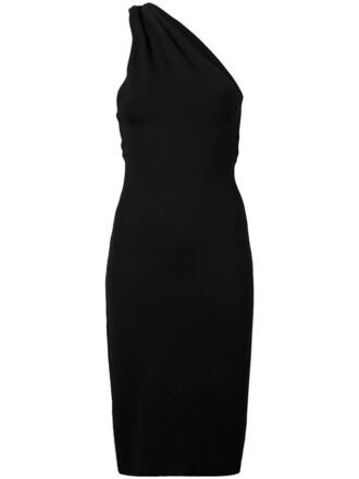 dress one shoulder dress women spandex black
