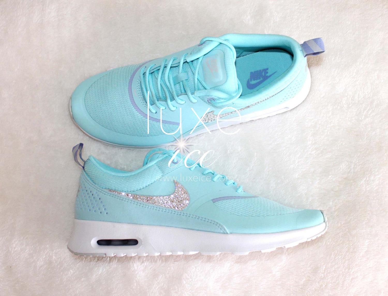 2ff44523f8 Nike Air Max Thea shoes w/Swarovski Crystals detail - Glacier Blue