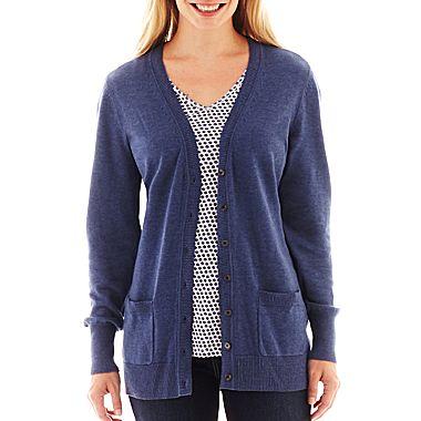 Liz claiborne boyfriend cardigan sweater