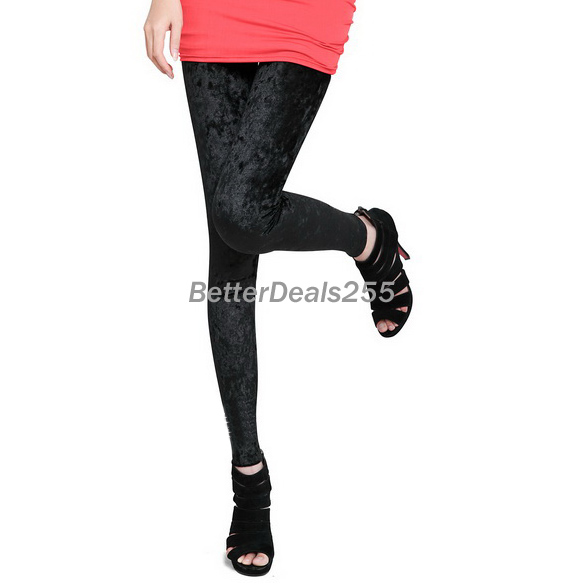 Celeb velvet soft stretch leggings slim fit pants sheer tights lady high quality