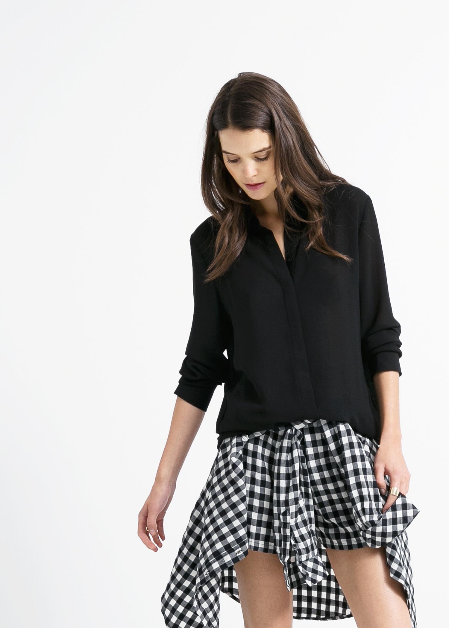 Basic chiffon blouse - Dames | MANGO