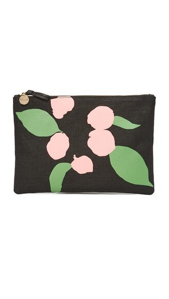 clutch black pink bag