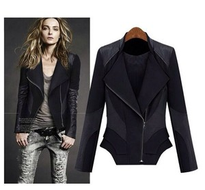 Womens Designer Leather Jackets - Coat Nj